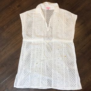 Lilly Pulitzer Eyelet Beach Coverup Tunic